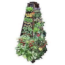 Ebay Vertical Garden - earth tower vertical garden 4 ft high 4 sided brown wood planter