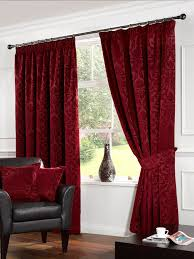 Bright Interior Nuance Elegant Red Nuance Of The The Bay Window Drapes Curtains That Make