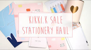 kikki k stationery haul sale items buying on a budget a