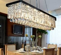 Dining Room Light Fixtures Contemporary Modern Contemporary Rectangle Drop Chandelier For