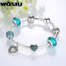 heart charm bangle bracelet images Aliexpress hot silver pink heart charm bangle for women fashion jpg