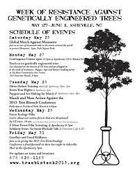 week of resistance against ge trees schedule of events stop ge