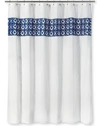 Aqua Blue Shower Curtains Amazing Deal On Threshold Shower Curtain Tile Blue White