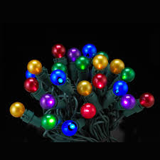 set of 50 led multi colored pearl glass g15 berry lights