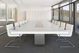 White Conference Table This White Boardroom Table Would Offset The Black Ceiling And