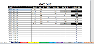 1 Rep Max Bench Press Chart Chc Individualized Weight Lifting Charts