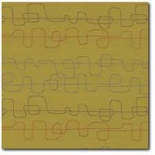 Retro Upholstery Maharam Fasten Cocoa Modern Retro Upholstery Fabric Medium View