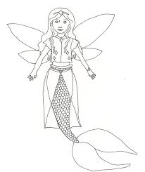 mermaid fairy princess coloring pages eson me