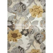 Floral Pattern Rugs Jaipur Rug1 Blue Hand Tufted Floral Pattern Wool Ivory Yellow Area