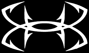 hunting truck decals amazon com large under armour fish hook vinyl decal sticker for