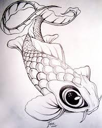 drawn koi carp coy fish pencil and in color drawn koi carp coy fish