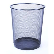 poubelle bureau poubelle de bureau métal ø35 noir corbi belhome sarl carremeuble
