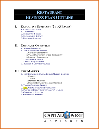 restaurant business plan outlinereference letters words