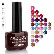 nail art gel len nail lacquer soak off uv led gel color nail
