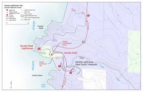 map of oregon lighthouses siuslaw national forest trail maps