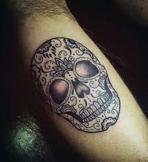Forearm Skull - 100 sugar skull designs for cool calavera ink ideas