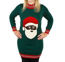 black santa clause sweater dress sweaters