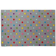 Kids Rooms Rugs by Kids U0027 Rugs Kids U0027 Multi Color Dot Candy Grey Rug The Land Of Nod