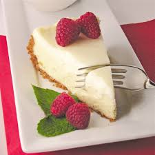 Christmas Cheesecake Decoration - classic cheesecake with sour cream topping easybaked