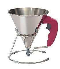 entonnoir cuisine de buyer 3353 60 kwik mini entonnoir à piston inox fuchsia 0