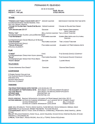Sample Dance Resume For Audition Dance Resume Objective Free Resume Example And Writing Download