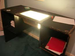 Lighted Drafting Table Animators Table With Light Box From Cheap Desk 10 Steps