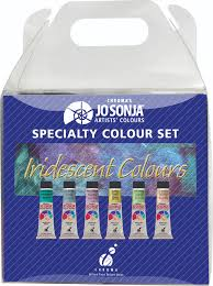 6 x 20ml chroma u0027s jo sonja iridescent specialty set contains blue