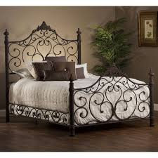 Wood And Iron Bedroom Furniture wrought iron headboard and footboard queen 13490