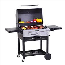 home depot black friday 201 kitchenaid cart style charcoal grill in black with foldable side