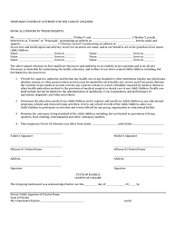 Free Durable Power Of Attorney Form Download by Power Of Attorney For Minor Child Form 7 Free Templates In Pdf