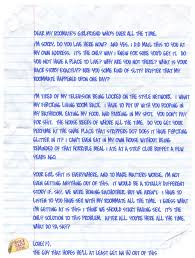 write about something that u0027s important writing a cute letter to