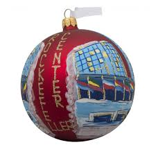 nyc rockefeller tree with flags glass ornament
