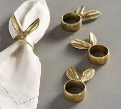 acrylic rabbit ring holder images Emily meritt bunny ear napkin ring set of 4 pottery barn jpg