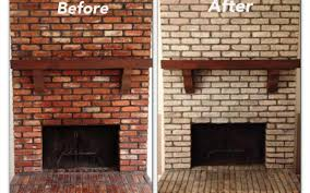 paint brick fireplace stovers
