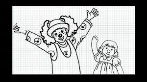 Couch Drawing The Big Comfy Couch How To Draw Loonette And Molly Doll Video