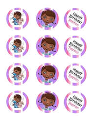 doc mcstuffins cupcake toppers doc mc stuffins theme birthday party printables