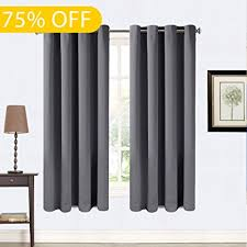 63 Inch Curtains 99 Blackout Curtains 2 Panels Thermal Insulated