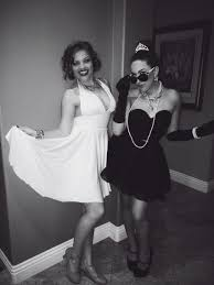 party city halloween costumes for best friends marilyn monroe and audrey hepburn halloween costume for