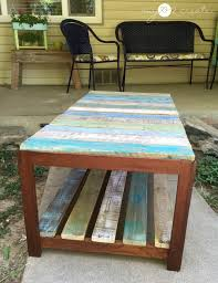 update a glass top coffee table with a pallet remodelaholic