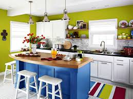small kitchen color design with awesome colorful looks of small
