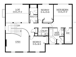 craftsman style house plan 3 beds 2 5 baths 2700 sq ft plan 132