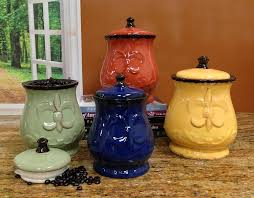 ceramic canisters sets for the kitchen appealing colored ceramic kitchen canister sets u