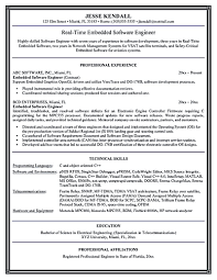Sample Resume For Software Engineer Experienced Sample Resume For Experienced Embedded Engineer Resume For Your