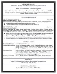 Software Resume Embedded Resume Resume For Your Job Application