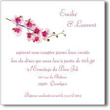 modele carte mariage carte orchidée invitation mariage coordonnée au faire part