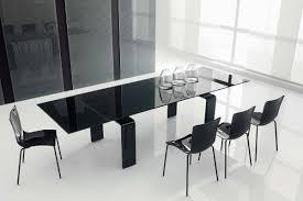 black contemporary dining table impressive dining room interior with modest glass table decobizz com