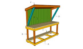 plans a garden work bench plans diy free download timber garage