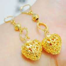 earrings hong kong aliexpress buy 24k gold plated three pieces gorgeous