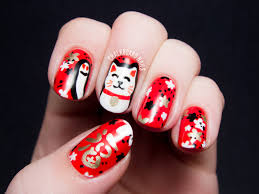 the lacquer legion lucky maneki neko lucky cat nail art cat