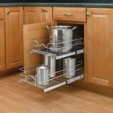 kitchen cabinet pull out cabinet organizer for pots and pans